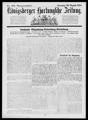 Königsberger Hartungsche Zeitung vom 30.08.1914