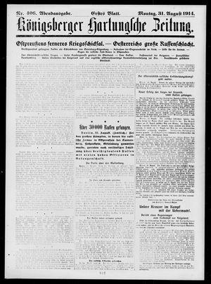 Königsberger Hartungsche Zeitung vom 31.08.1914