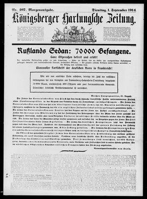 Königsberger Hartungsche Zeitung on Sep 1, 1914