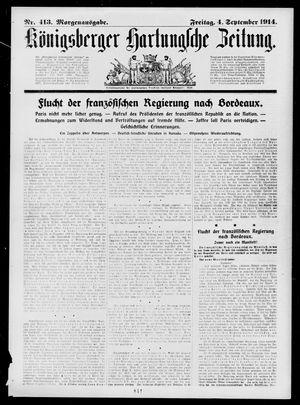 Königsberger Hartungsche Zeitung vom 04.09.1914