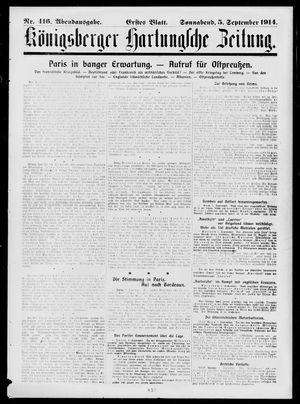 Königsberger Hartungsche Zeitung vom 05.09.1914