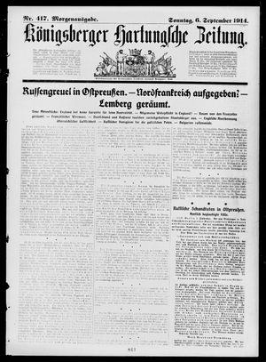 Königsberger Hartungsche Zeitung vom 06.09.1914