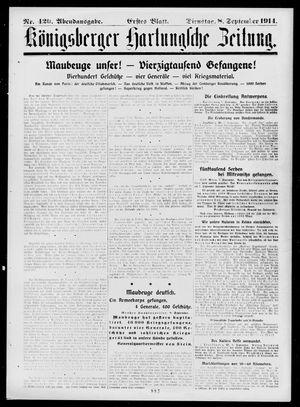 Königsberger Hartungsche Zeitung vom 08.09.1914