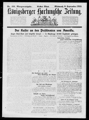 Königsberger Hartungsche Zeitung vom 09.09.1914