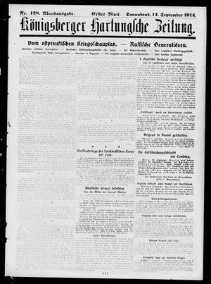 Königsberger Hartungsche Zeitung vom 12.09.1914