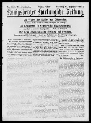 Königsberger Hartungsche Zeitung vom 14.09.1914