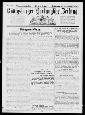 Königsberger Hartungsche Zeitung vom 15.09.1914