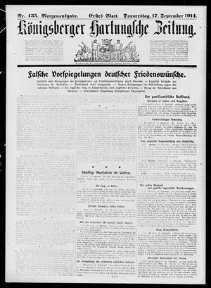 Königsberger Hartungsche Zeitung vom 17.09.1914