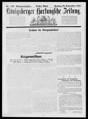 Königsberger Hartungsche Zeitung vom 18.09.1914