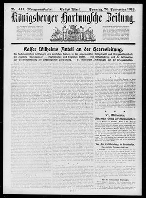 Königsberger Hartungsche Zeitung on Sep 20, 1914