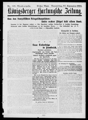 Königsberger Hartungsche Zeitung vom 24.09.1914