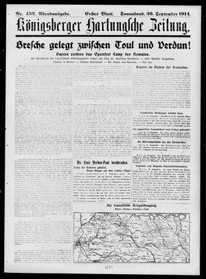 Königsberger Hartungsche Zeitung vom 26.09.1914
