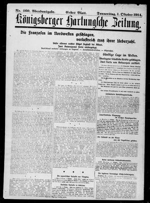 Königsberger Hartungsche Zeitung vom 01.10.1914