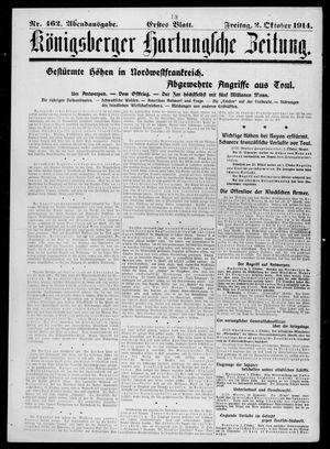 Königsberger Hartungsche Zeitung vom 02.10.1914