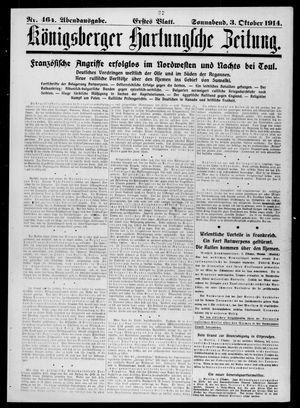Königsberger Hartungsche Zeitung vom 03.10.1914