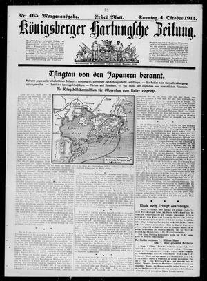 Königsberger Hartungsche Zeitung vom 04.10.1914