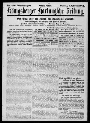 Königsberger Hartungsche Zeitung vom 05.10.1914
