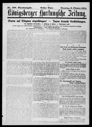 Königsberger Hartungsche Zeitung vom 06.10.1914