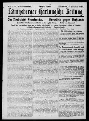 Königsberger Hartungsche Zeitung vom 07.10.1914