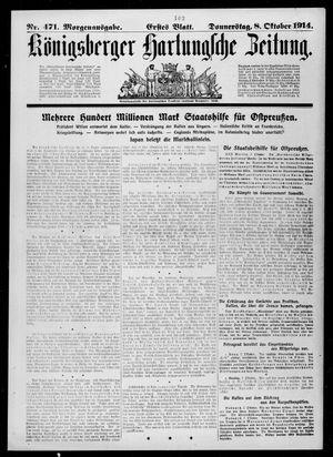 Königsberger Hartungsche Zeitung vom 08.10.1914