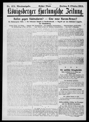 Königsberger Hartungsche Zeitung vom 09.10.1914