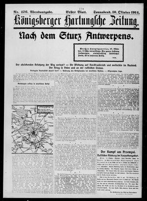 Königsberger Hartungsche Zeitung vom 10.10.1914