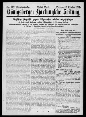 Königsberger Hartungsche Zeitung vom 12.10.1914