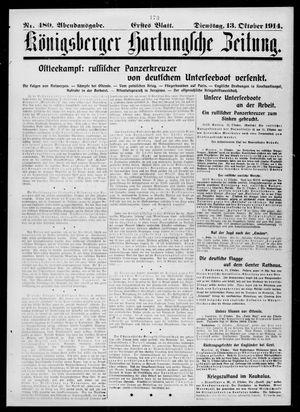 Königsberger Hartungsche Zeitung vom 13.10.1914