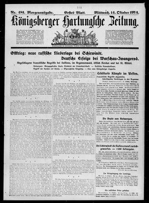 Königsberger Hartungsche Zeitung vom 14.10.1914