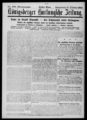 Königsberger Hartungsche Zeitung vom 17.10.1914
