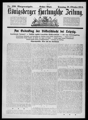 Königsberger Hartungsche Zeitung vom 18.10.1914