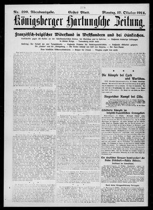 Königsberger Hartungsche Zeitung vom 19.10.1914