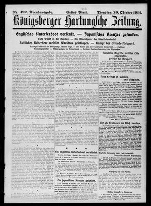 Königsberger Hartungsche Zeitung vom 20.10.1914