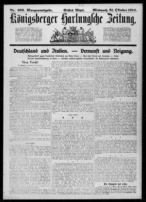 Königsberger Hartungsche Zeitung vom 21.10.1914