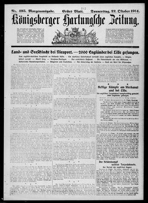 Königsberger Hartungsche Zeitung vom 22.10.1914