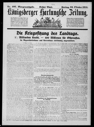 Königsberger Hartungsche Zeitung vom 23.10.1914