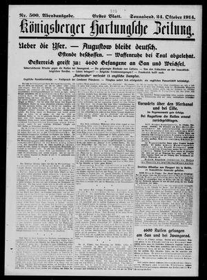 Königsberger Hartungsche Zeitung vom 24.10.1914