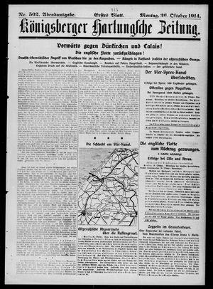 Königsberger Hartungsche Zeitung vom 26.10.1914