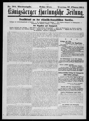 Königsberger Hartungsche Zeitung vom 27.10.1914