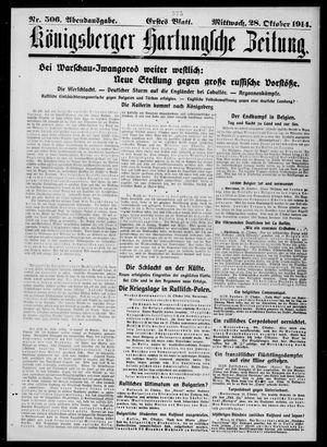 Königsberger Hartungsche Zeitung vom 28.10.1914