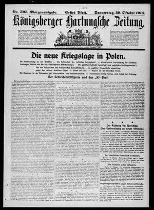 Königsberger Hartungsche Zeitung vom 29.10.1914