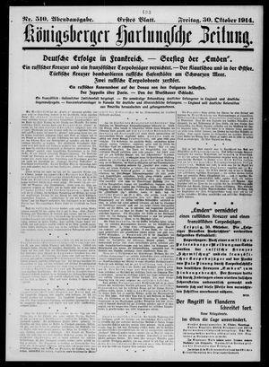 Königsberger Hartungsche Zeitung vom 30.10.1914