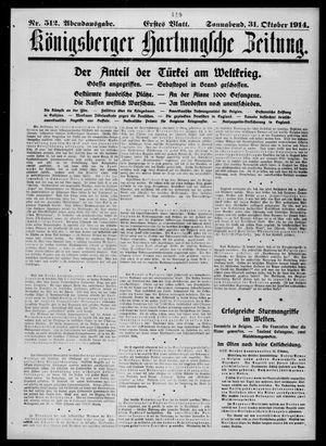 Königsberger Hartungsche Zeitung on Oct 31, 1914