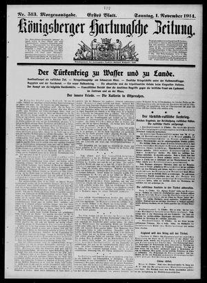 Königsberger Hartungsche Zeitung vom 01.11.1914