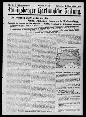 Königsberger Hartungsche Zeitung vom 02.11.1914