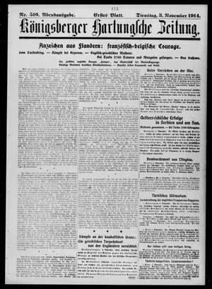 Königsberger Hartungsche Zeitung vom 03.11.1914