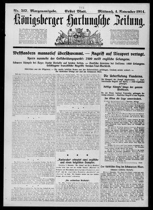 Königsberger Hartungsche Zeitung vom 04.11.1914