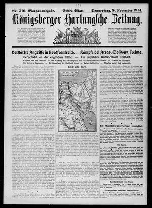 Königsberger Hartungsche Zeitung vom 05.11.1914
