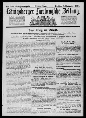 Königsberger Hartungsche Zeitung vom 06.11.1914