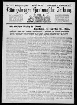 Königsberger Hartungsche Zeitung vom 07.11.1914